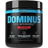 DEDLift Dominus Pre Workout Powder, Crash-Free Energy, Tunnel Vision Focus, Muscle Pumps, Fruit Punch, 40 Servings