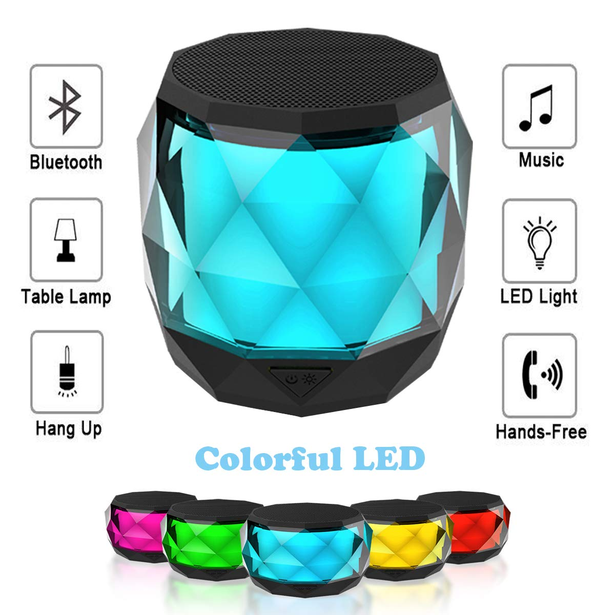 LED Bluetooth Speaker,LFS Night Light Wireless Speaker,Untra