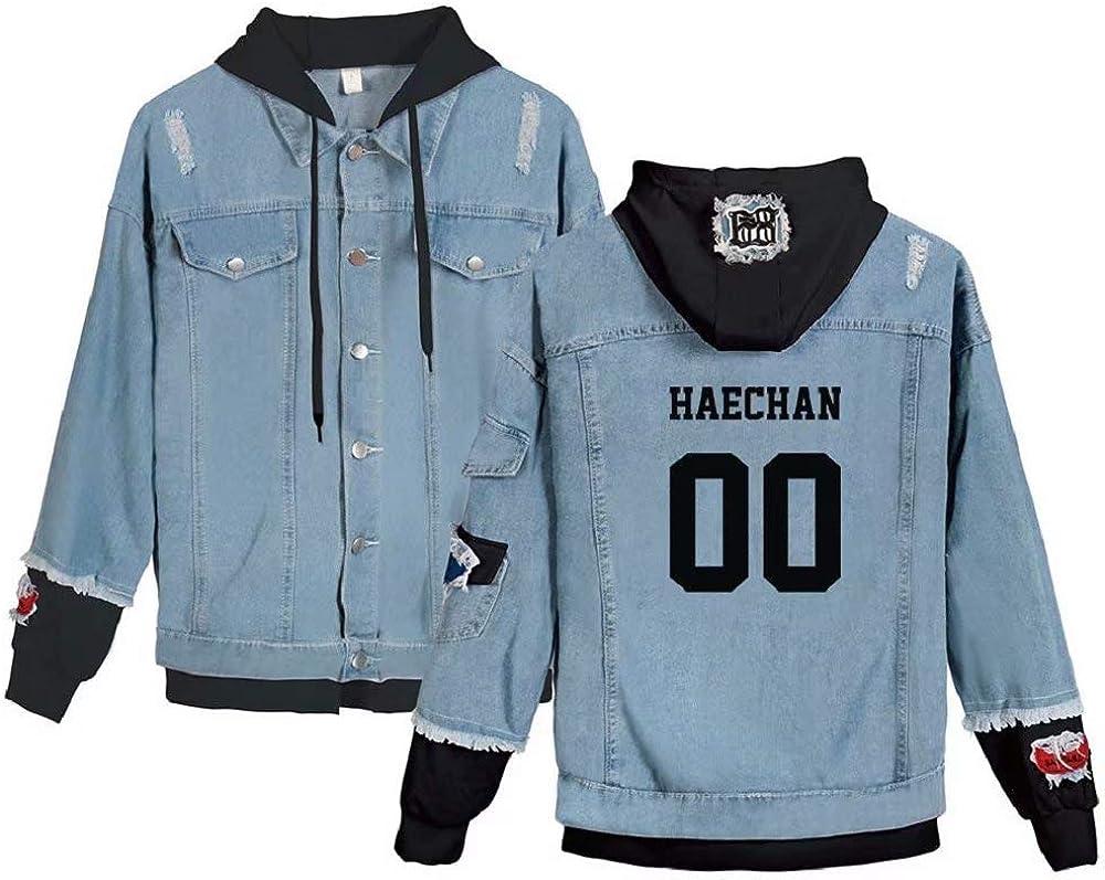 TGFT Unisex Kpop NCT Dream Denim Jacket New Album We Boom Fashion Sport Hip Hop Hoodie Fake Outfit