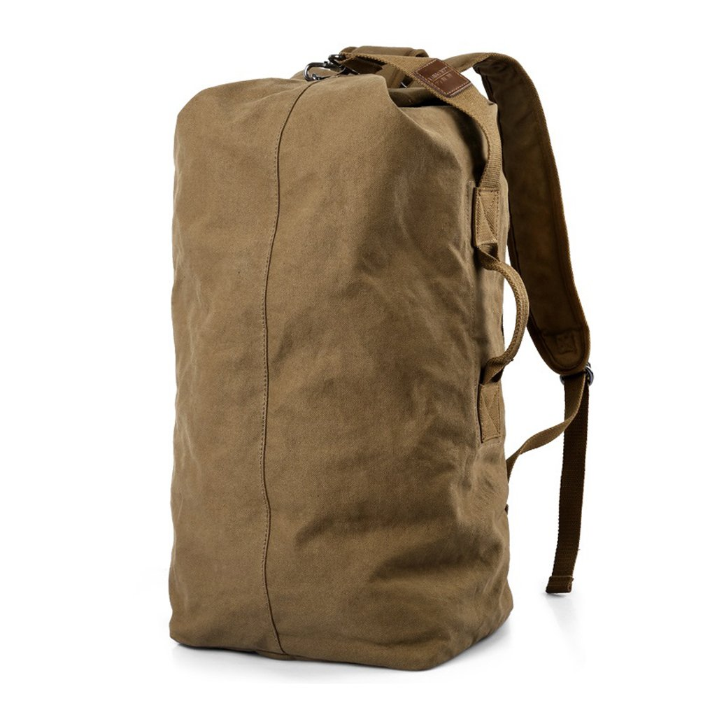 Oversized Heavy-Duty Canvas Duffel Sports Bag Travel Hiking Camping Backpack