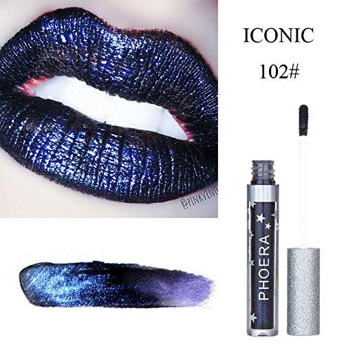 PLENTOP PHOERA Matte To Glitter Liquid Lipstick Waterproof Lip Gloss Makeup