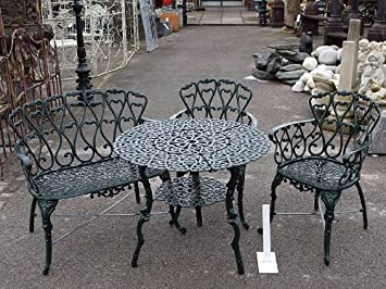 Cast Iron Daisy Patio Set & Cast Iron Daisy Patio Set: Amazon.co.uk: Garden u0026 Outdoors
