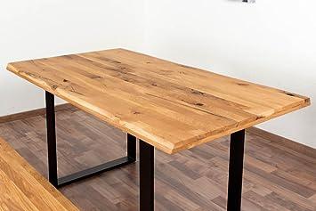 Esstisch Wooden Nature 413 Eiche Massiv Geölt Tischplatte Glatt