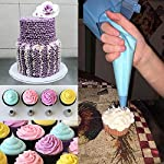 Cake Decorating supplies, Cake Decorating Kit with 36 Icing Tips, 2 Silicone Pastry Bags, 2 Flower Nails, 2 Reusable Plastic Couplers Baking Supplies Frosting Tools Set for Cupcakes Cookies 13 Cake Decorating Supplies Kits: 36 stainless steel icing tips, 2 reusable silicone pastry bag, 2 reusable plastic couplers, 2 flower nails, with which you can create all types of patterns on cake, cupcakes. Decorating Patterns: 11 open star tips, 7 closed star tips, 3 french tips, 3 round tips, 2 plain tips, 4 leaf tips, 3 rose petal tips, 3 special tips. 0.7 inch in diameter, 1.26 inch tall. Premium Baking Supplies Frosting Tool: Strong, durable, stainless steel, corrosion resistant, reusable, non-stick, tasteless & non-toxic, FDA and LFGB approved, easy to clean and dishwasher safe.