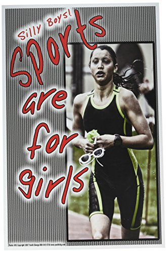 Poster #81 Running Poster Teaches Girls to Like P.E., Track, Sports, Fitness, Working Out