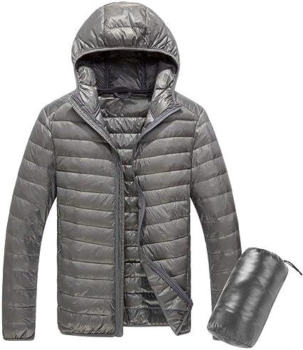 Manteau à Capuche Doudoune Hommes,Ultra Légère Hiver Parka