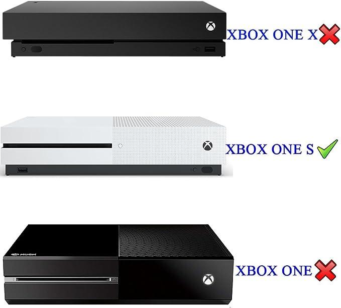 eXtremeRate Guardapolvo para Xbox one S Funda contra el polvo Cubierta Protectora Horizontal para la consola de Xbox one S Diseño de doble capa Corte preciso para puerto de cable de fácil