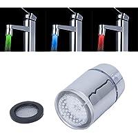 SODIAL(R) Tricolore LED Capteur de temperature pulverisation Robinet de Cuisine