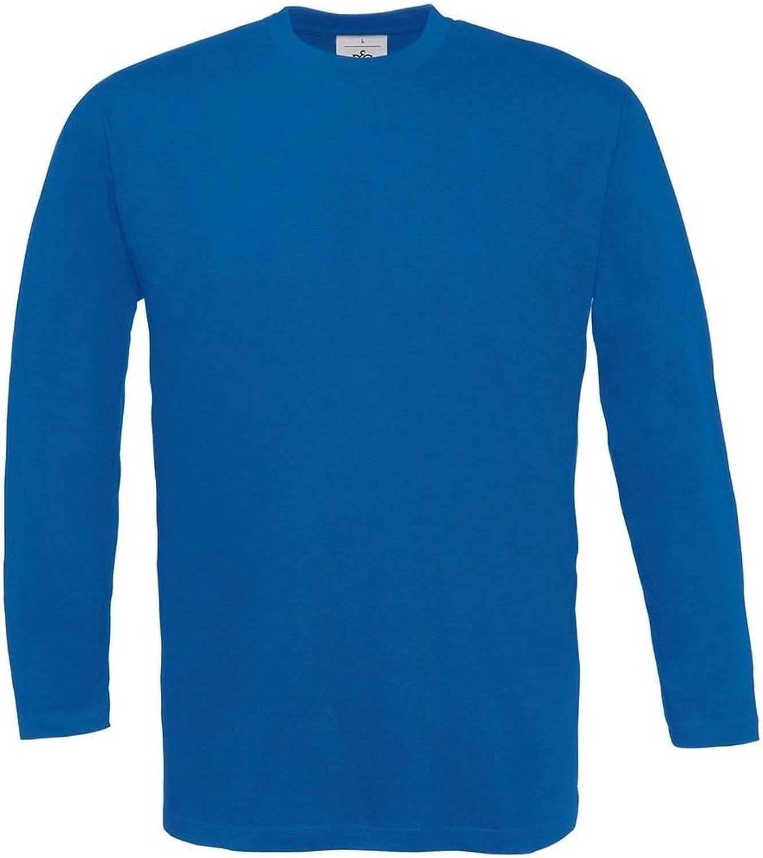 T-Shirt mit Rundhals-Ausschnitt B/&C Herren Longsleeve Langarm BC2010