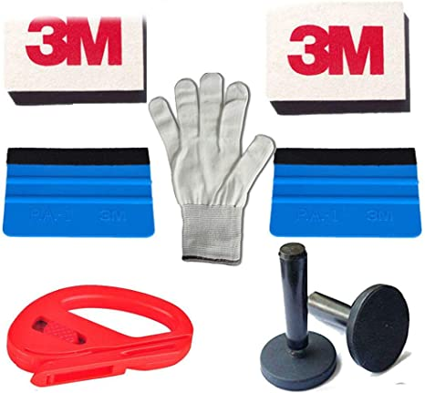 Eco Vinyl Car Wrap Application  Squeegee 4 Magnets Glove Auto Wrapping Tool US
