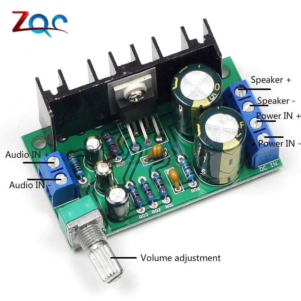 TDA2050 DC 12V-24V 10W-30W Mono Audio Power Amplifier Module 1-Channel Class AB