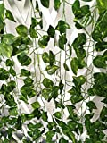 ShinyBeauty artificial ivy hedge artificial vines for outdoors fake ivy pot 12pcs (84 Feet)