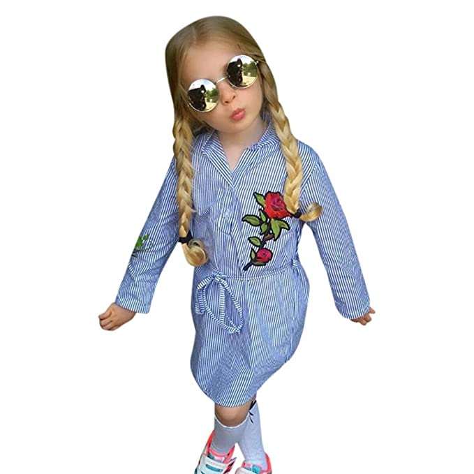 aa3010c8d Amazon.com: Goodlock Toddler Kids Fashion Dress Baby Girls Flower ...