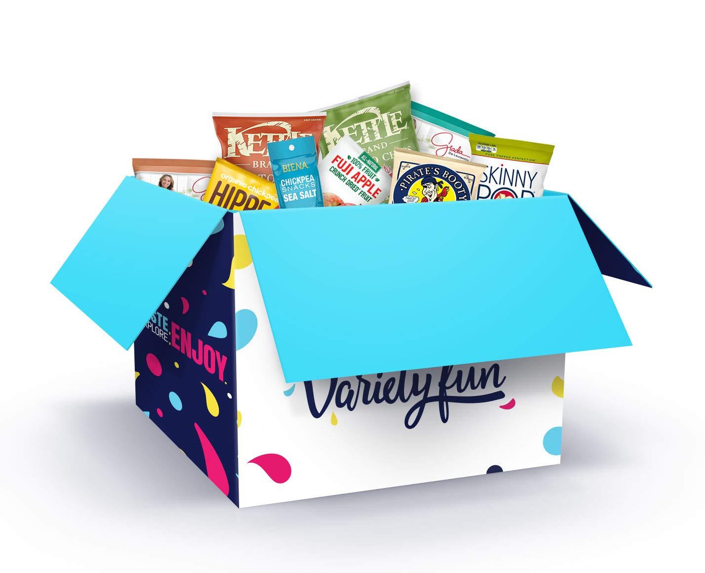 Ultimate Premium Healthy Chips & Snacks Care Package Variety Pack by Variety Fun (Office Package 100 Count) by Custom Varietea (Image #1)