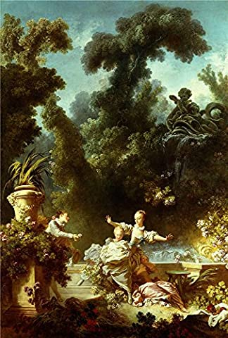 Perfect Effect Canvas ,the High Definition Art Decorative Prints On Canvas Of Oil Painting 'Jean-Honore Fragonard - The Progress Of Love - The Pursuit, 1771-72', 8x12 Inch / 20x30 Cm Is Best For Gym Artwork And Home Artwork And Gifts