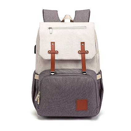 8250fb723860 Amazon.com: Rhfemd Mummy Dad Diaper Bag Large Capacity with USB ...