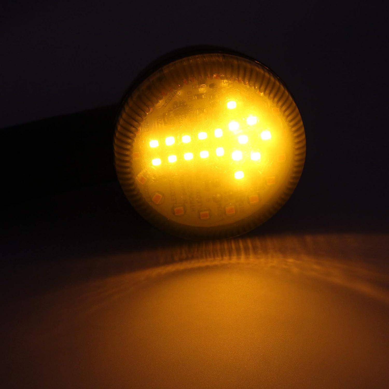 Bullet Motorcycle Turn Signal Light Amber Arrow LED Indicator Blinker Flash For Sportster Softail Dyna Bobber Chopper CBR CB Universal