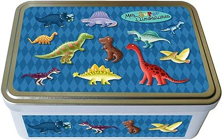 Kalam Caja metálica, diseño de dinosaurios: Amazon.es: Hogar