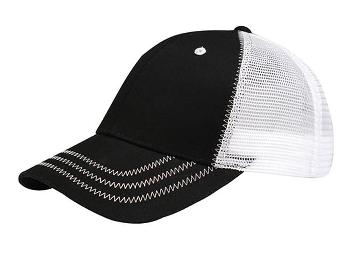 560da077bdf79 G Men s Low Profile Mesh Trucker Cap (Black White) at Amazon Men s ...