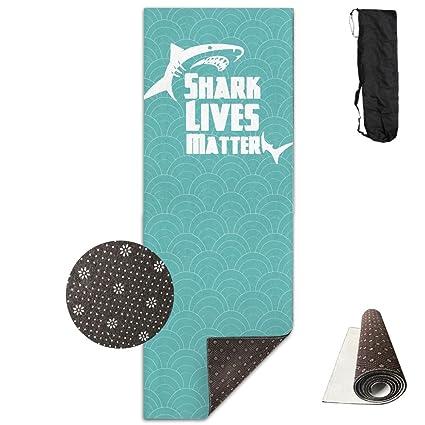 Amazon.com : No Lives Matter Shark Yoga Mat Towel For Bikram ...