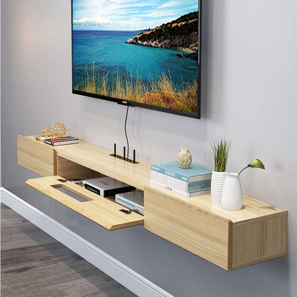 Estante Flotante consola for TV TV estante de montaje en pared / consola de audio y vídeo que cuelga de TV Gabinete de Medios consola flotante Hutch Gabinete de almacenamiento Soporte de