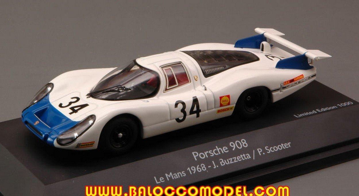 Schuco SH3720 Porsche 908LH N.34 LM 1968 BUZZETTA-Scooter 1:43 DIE CAST Model