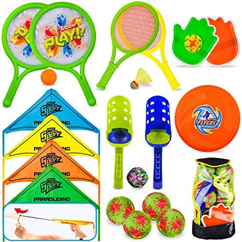 8 in 1 Outdoor Sports Toy Backpack Set, Including...