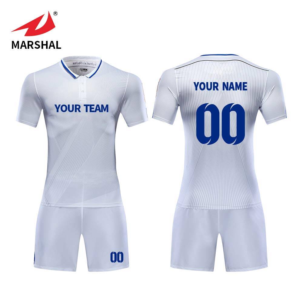 0fd5a171d ZHOUKA 2018 sublimation custom american football jersey new model design  shirt soccer uniforms jersey color white  Amazon.co.uk  Sports   Outdoors