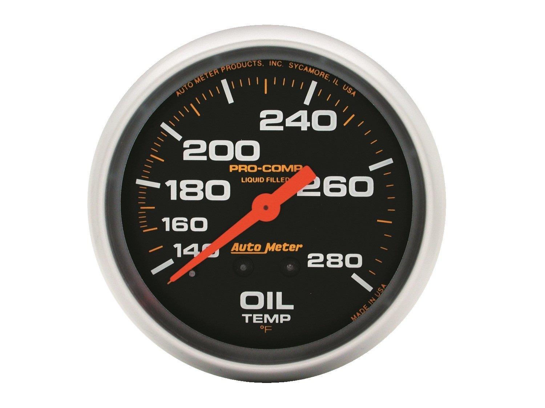 Auto Meter 5443 Pro-Comp Liquid-Filled Mechanical Oil Temperature Gauge by Auto Meter