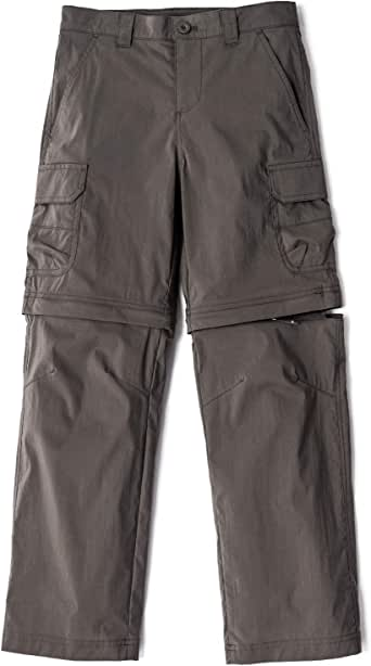 CQR Kids Outdoor Convertible Adventure Youth Pants Stretch UPF 50+ Quick Dry Cargo Trousers