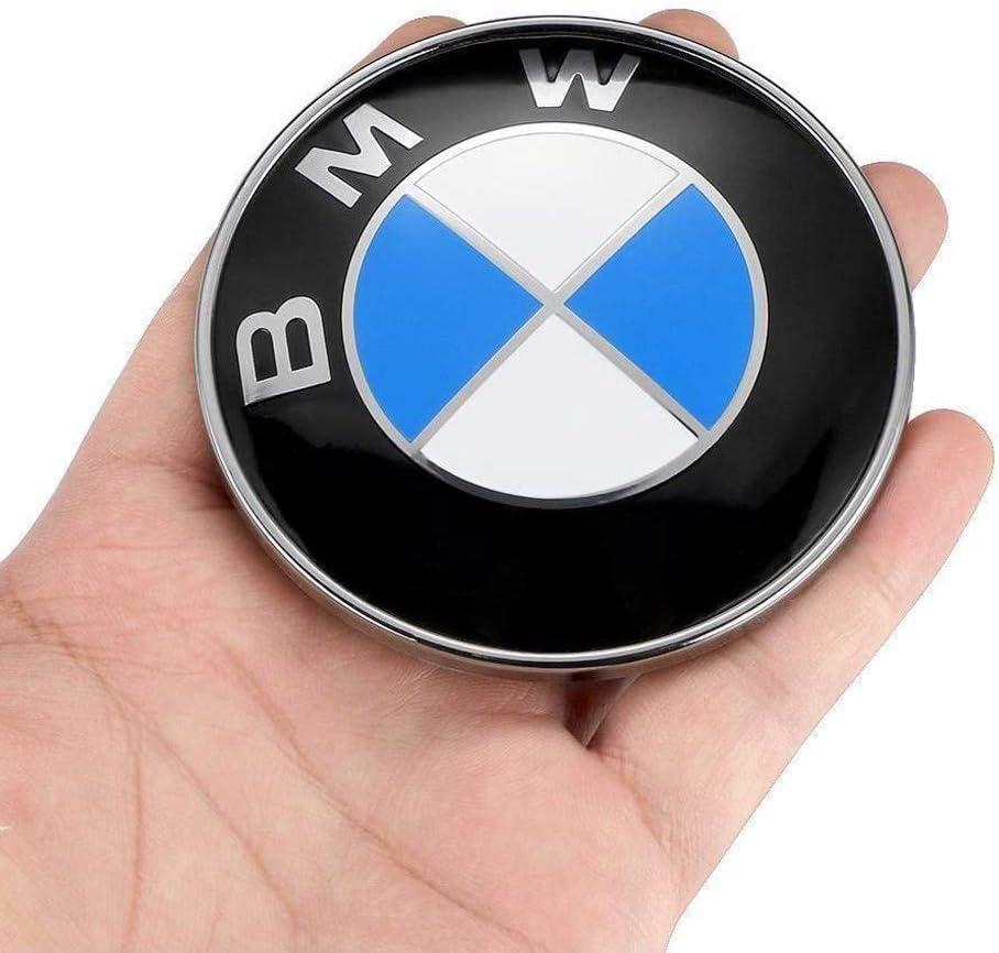 BMW Emblems Hood and Trunk BMW Emblem Logo Replacement 82mm 2 Grommets for ALL Models BMW E30 E36 E46 E34 E39 E60 E65 E38 X3 X5 X6 3 4 5 6 7 8