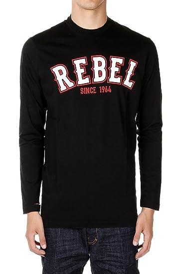 654ebc0fc DSQUARED2 Rebel Maglia Manica Lunga Bambino Nero: Amazon.co.uk: Clothing