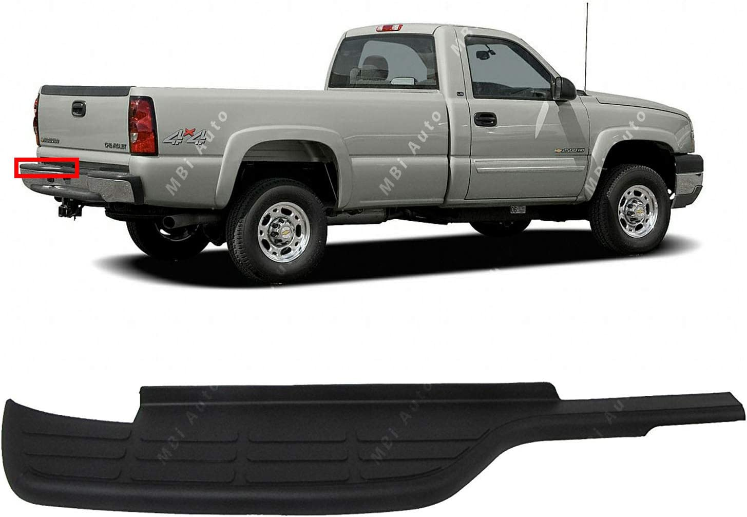 Center Black Bumper Step Pad For GMC Sierra 1500 Classic 2007 New Rear