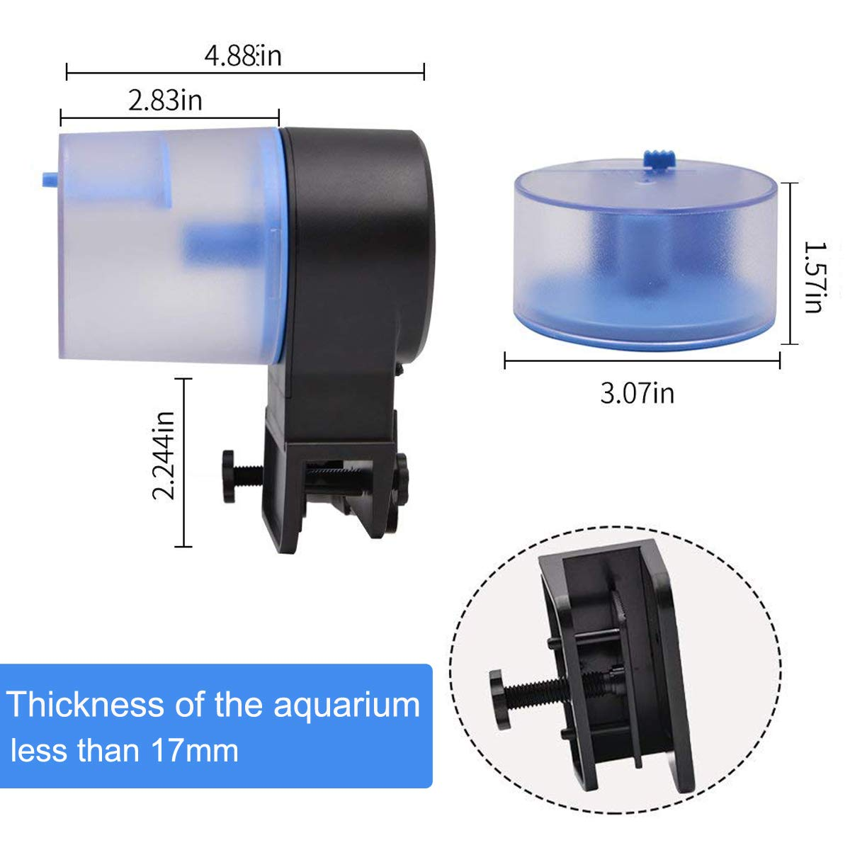 Aollan Automatic Fish Feeder Turtle Feeder Turtle Feeder Powered by USB DC 5V or Battery Programmable Food Dispenser for Fish and Turtle by Aollan (Image #4)
