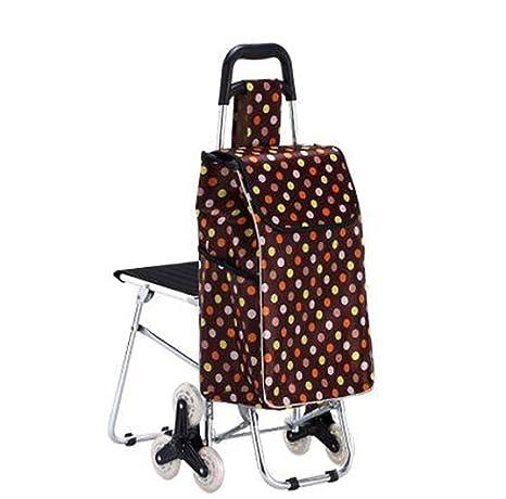 GAYY Carrito de la carretilla, cesta de compras Carrito plegable Supermercado Carro de la mano
