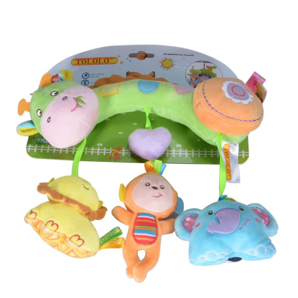 elegantstunning Kids Stroller And Travel Activity Toy Baby Bed Hanging Toys, Car Seat Stuffed Toys With Ringing Bell Mirror Wraps Around Crib Rail Marine Animal