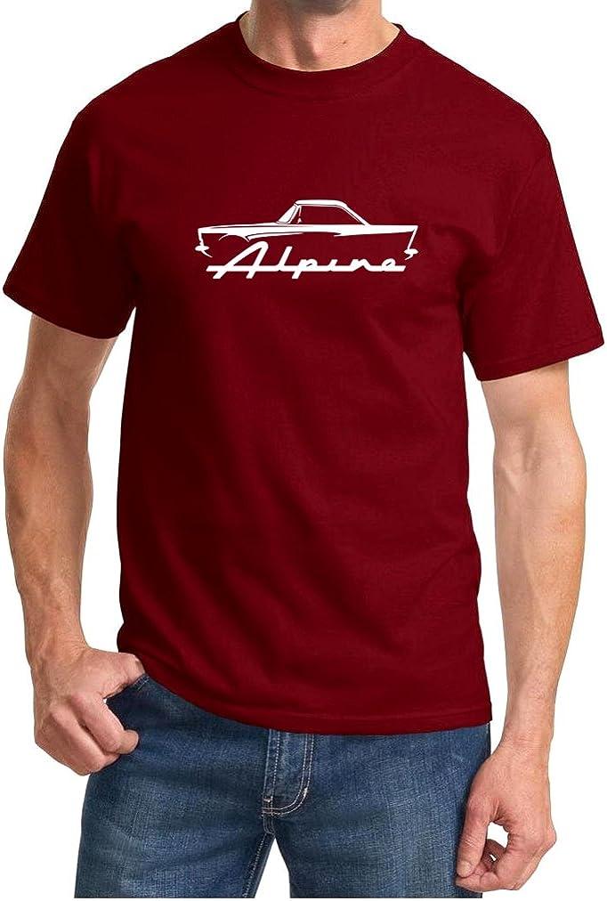 Sunbeam Alpine Hardtop Classic Car Outline Design Tshirt