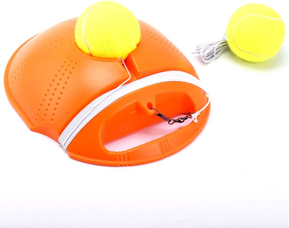 Springen Tennis Trainer Rebound Baseboard Tennis Ball Self-Study Practice Tool Equipment Sport Exercise for Beginner with 2 Balls : Sports & Outdoors