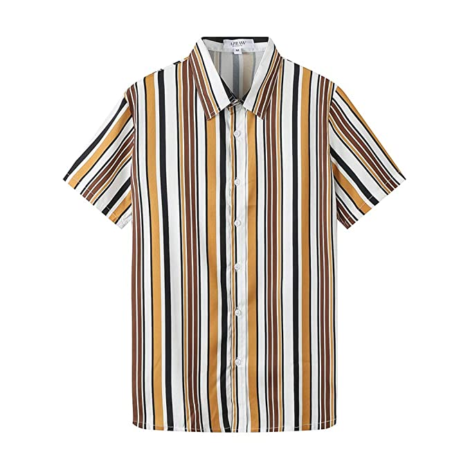 Amazon.com: APRAW - Camisas de manga corta para hombre ...
