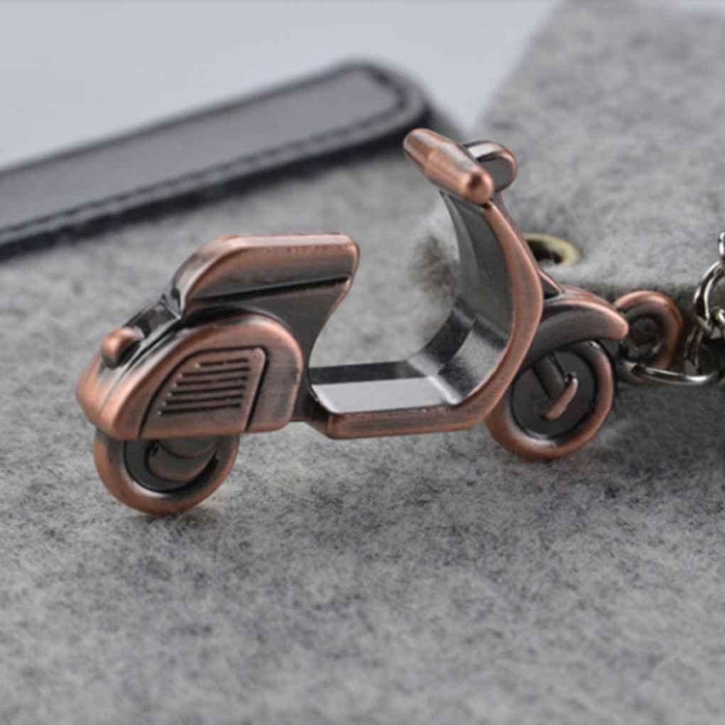 Morza Creativo 3D Motocicleta Vespa de Coches llaveros Llavero Mando Llavero Colgante de Regalo de Chrismas