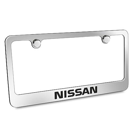 Amazon.com: Nissan Chrome Metal License Plate Frame: Automotive