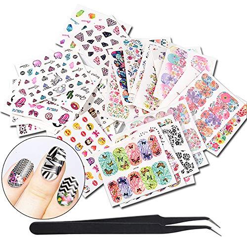 WOKOTO Waterslide Tweezers Stickers Manicure product image
