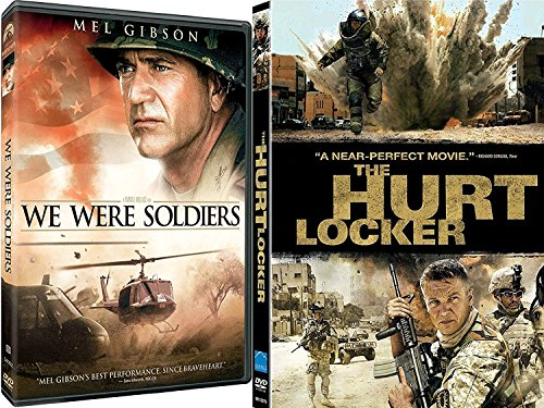 Hurt Locker & We Were Soldiers War Courage Movie Bundle Set
