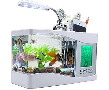 Anself lampada lcd mini usb da scrivania con luce a led acquario