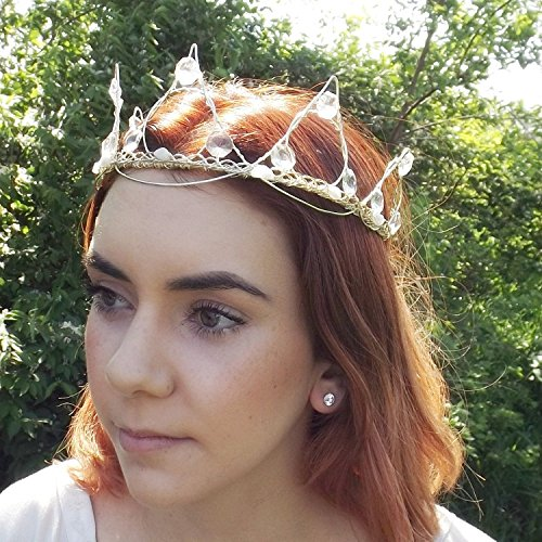 Crystal Tiara Crown With Moonstone by Thyme2dream