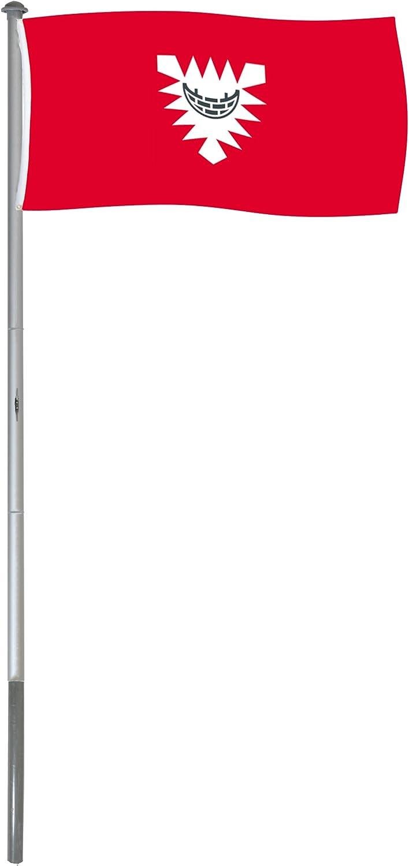 BRUBAKER Mástil Aluminio Exterior 6 m Incluye Bandera de Kiel 150 ...