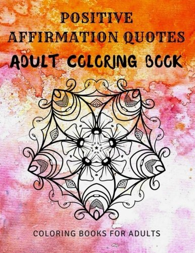 Positive Affirmation Quotes Adult Coloring product image