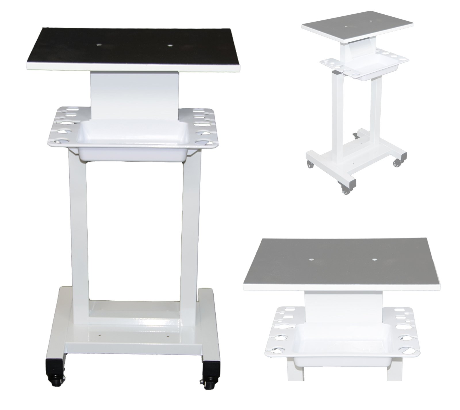 LCL Beauty Steel Frame Salon Spa Roller Trolley Cart Stand Storage Bin and Tool Implement Racks by LCL Beauty