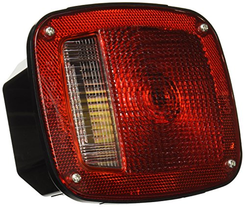 Grote 52802 Three-Stud, Chevrolet Ford Jeep Stop Tail Turn Light (w/ Side Marker & Molded Pigtail Termination, w/out License Window, RH)