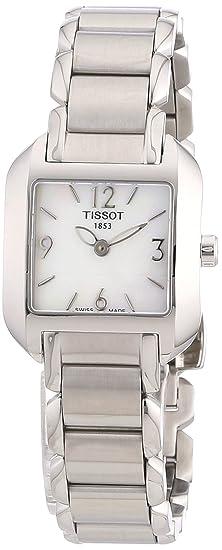 Tissot T-WAVE T02128582 - Reloj de mujer de cuarzo, correa de acero inoxidable color gris: Amazon.es: Relojes